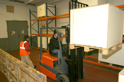 Forklift Training with Industrial Transport Training
